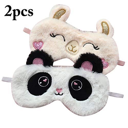 Produktbild Zoylink 2 STÜCKE Schlafmaske Schlaf Eyeshade Plüsch Cartoon Tier Augenbinde
