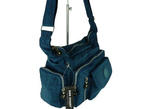 Bag Street Borsa A Tracolla Donna Blu Blau Blue Dunkelblau M
