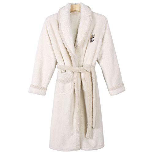 Kitrack Bademantel Frottier Flanell Roben Luxury Weiche Robe Cozy Fluffy FüR Frauen,XXL