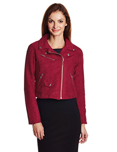 People Women's Suede Jacket (P20402115255245_Red_M)