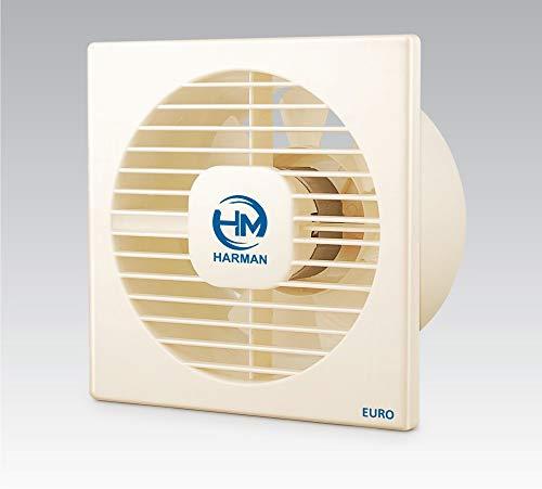 HARMAN INDUSTRIES Euro-4 AXIAL Ventilation/Exhaust Fan (4-inch, 100 mm, Ivory)