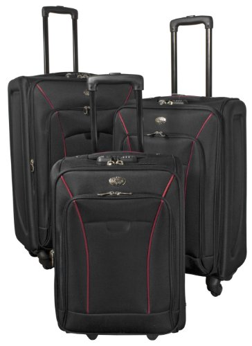 PMro-Trading Euro-Trading Copenhagen Suitcase 3 Pieces. Size-78 X 45 Cm. Colour-Black Valise. 78 cm. 83 liters. Noir (Black)