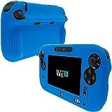 Blue Full Silicone Rubber Gel Soft Skin Case Cover for Nintendo Wii U Gamepad Remote Controller