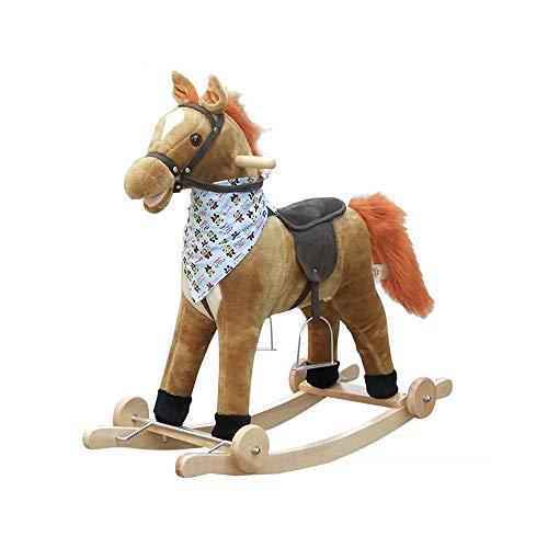 YUMEIGE Schaukelspielzeug Schaukelspielzeug Kinder Winter Indoor-Spielzeug, schaukelpferd 30,7 × 11 × 27.5inch,schaukeltier 70{aada28bb79545d845b6a50ac144c0f43beab5fd44aca24510d2ee704c3048062} Spielzeug, Lager 80kg, 1-6 Jahre alt (Color : Gray Pulley)