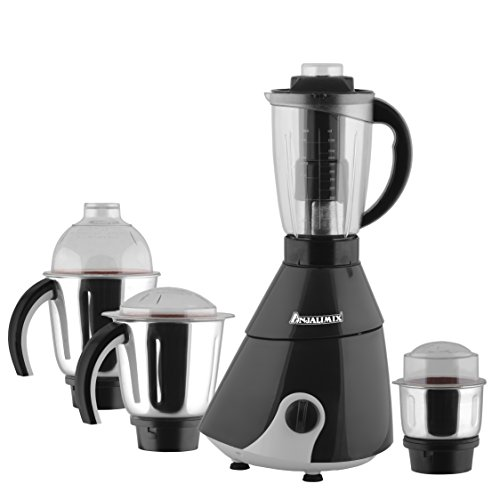 Anjalimix Insta 1000-Watts Mixer Grinder with 4 Jars (Black)