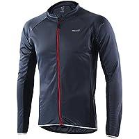 Jersey de ciclismo de visibilidad extrema, de Arsuexo, de manga larga, ajuste Slim Fit, camiseta de MTB, 6022, primavera/verano, hombre, color gris, tamaño large