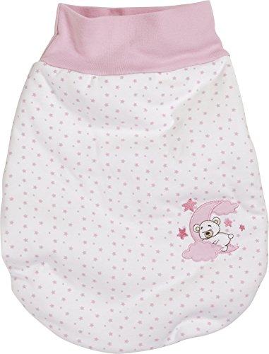 Schnizler Unisex Baby Schlafsack Strampelsack Mond mit elastischem Umschlagbund, Oeko Tex Standard 100, Gr. One size, Rosa (rose 14)