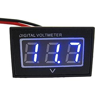 Yeeco Blaue LED 2 Drähte Digital Voltmeter DC 3.0-30V Volt Panel Meter Auto Auto-Kfz-Netzspannungsüberwachung Pegelmessung Tester mit umgeSchutzBoot Golf Cart Akku Volatge Überwachung