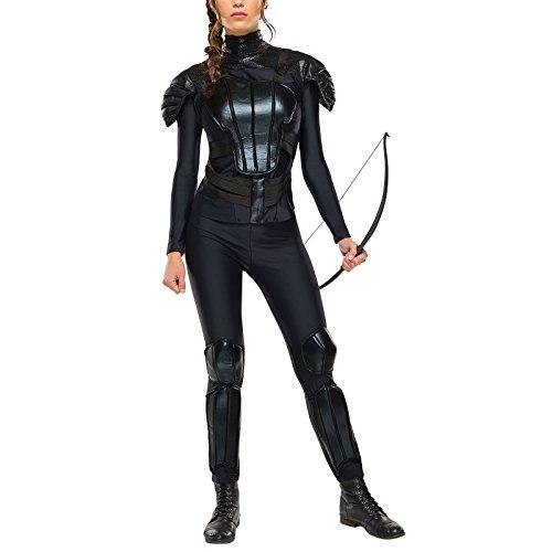 Tribute von Panem Katniss Everdeen Kostüm aus Mockingjay Teil 2 3-TLG. schwarz - M (Tribute Von Hunger Games Kostüm)