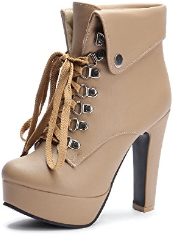 2943530fe66f0 dyf femmes bottes bottes bottes souliers à talon court imperméables ...