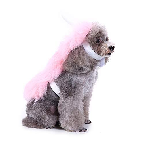 Ein Einhorn Reiten Kostüm - Aoweika Haustier Kostüm Rosa Einhorn Hund Welpen Kleid, Haustier Hund Katze Kleidung Hoodie Kostüme, Rosa Einhorn Kostüm