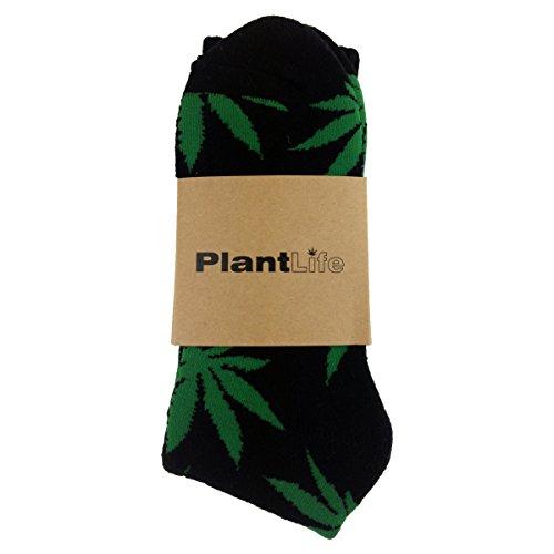 Für Männer Weed-socken (Plantlife Socken in universeller Größe // Blitzversand aus deutschem Lager // schwarz/grün Socks)