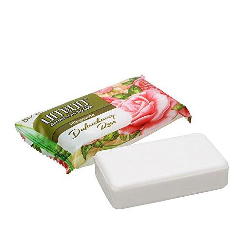 UMIDO Seife 80 g Rose - Hand-Seife - Waschstück - Seifenstück für ihre Körperpflege - Festseife - 1 x 80 g (4.)
