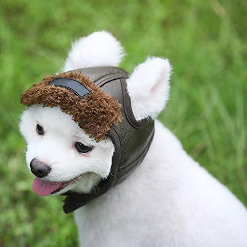LTSAA Hund Kaschmir Hut Nette Warme Hund PU Kappe Billig Pet Zubehör Caps Für Hunde Lustige Cosplay Haustier Hund Hut Für Chihuahua Haustiere Produkte@Grün_M