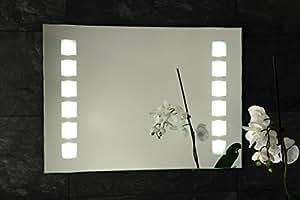 Salle de bains Miroir lumineux T4-Neon Tube - 70 x 50 cm