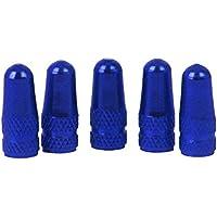 5Pcs Tapa de Válvula de Aire Guardapolvo Llantas Neumáticos para Bici Bicicleta Azul