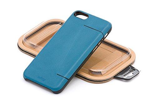 Portefeuille en cuir Bellroy iPhone 8 / 7 Phone Case - 3 cartes Black Arctic Blue