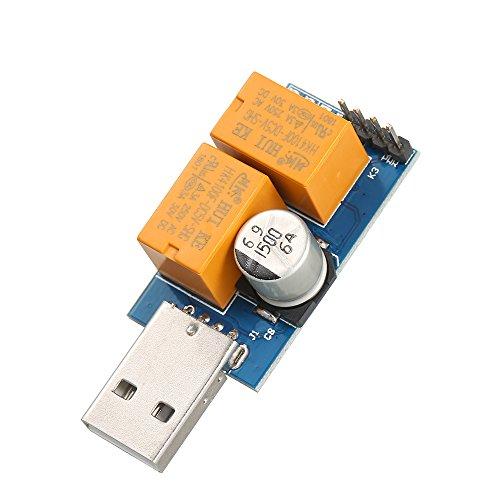 Docooler USB Watchdog Control Board Computer Timer Unbeaufsichtigter automatischer Neustart Blue Screen Reboot Reset Modul Spiel Mining Server BTC Miner (Relais-controller Kompakte)