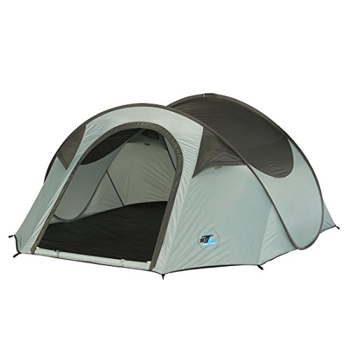 10T Campingzelt Colac 3 Pop-Up Wurfzelt wasserdichtes 3 Mann Outdoor Automatik Zelt Blau Grau