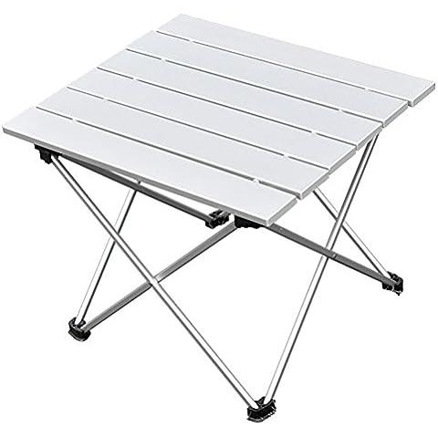 portatile pieghevole in alluminio interno, esterno, Tavolo