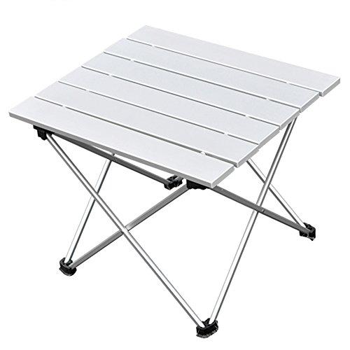 ANPI Aluminium Tragbarer Camping Tisch, Ultraleicht Zusammenklappbar mit Tragetasche, Roll up Klapptisch für Picknick, Camping, Wandern, Reisen, Angeln, Strand, Grill, Klein, Original Farbe