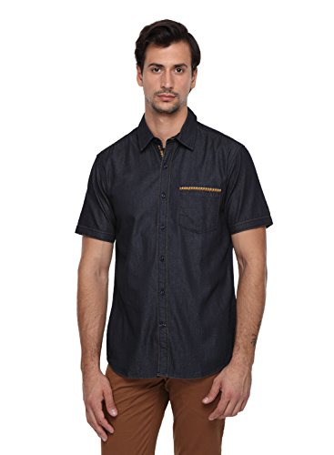 Classic Polo 100% Cotton Men's Solid Half Sleeve Slim Fit Casual Shirt