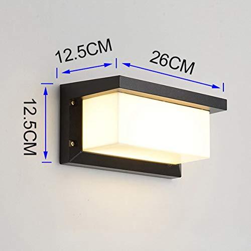 CCSUN LED Outdoor Wasserdicht Wandleuchte, IP65 Modren Wandleuchten Beleuchtungskörper Für Schlafzimmer Wohnzimmer Terrasse Balkon-schwarz Warmes Licht-18W -