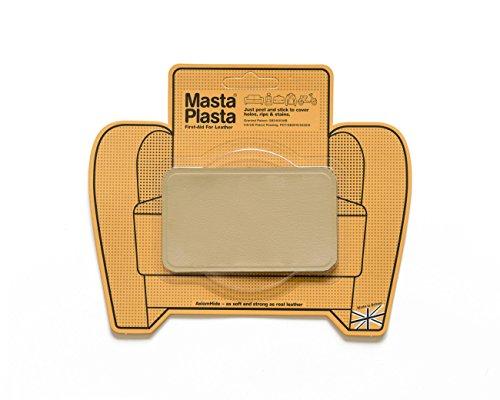 Neue Farbe! MastaPlasta Selbstklebende Leder-Reparaturflicken, Beige Größe/Design wählbar Erste-Hilfe für Sofas, Autositze, Handtaschen, Jacken etc.