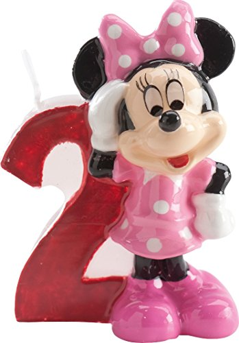 Minnie Mouse Kerze - Zahl 2 (Mickey Geburtstag Zahl)