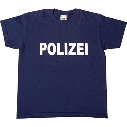 EDUPLAY 230055 Kinder T-Shirt 'Polizei', 100% Baumwolle, 116, Dunkelblau (1 ()