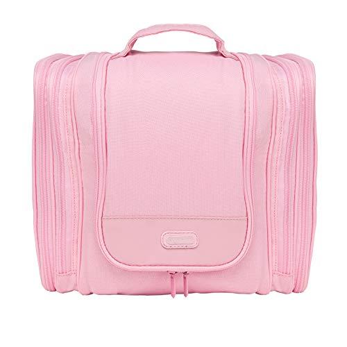 WALISA Kulturbeutel zum Aufhängen für Frauen, rosa, Kulturtasche für Damen, Waschtasche, Reisetasche, große Kosmetiktasche für die Frau