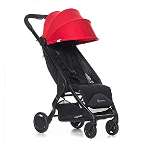 ErgobabyMetro Lightweight Buggy Stroller Pushchair with Sun-Shade Canopy One Hand Foldable, 6Months to 18kg Toddler (Red)   10