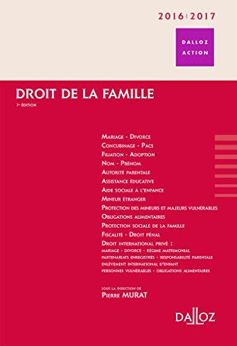 Droit de la famille 2016/2017-7e éd. par Pierre Murat