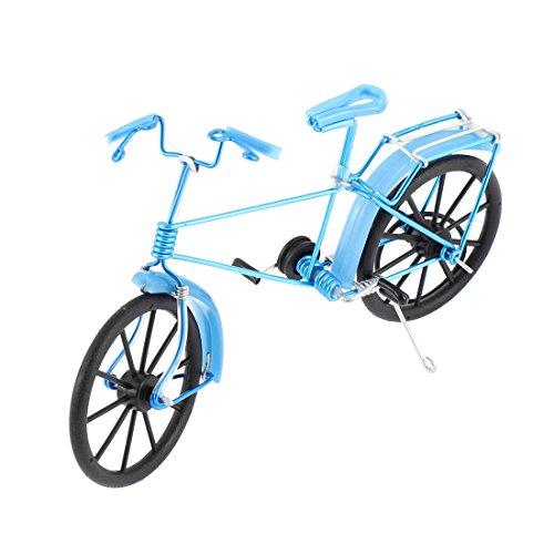 Sourcingmap Metall Draht handgefertigt Road Bike Modell Geschenk Kunst Dekoration Blau DE de