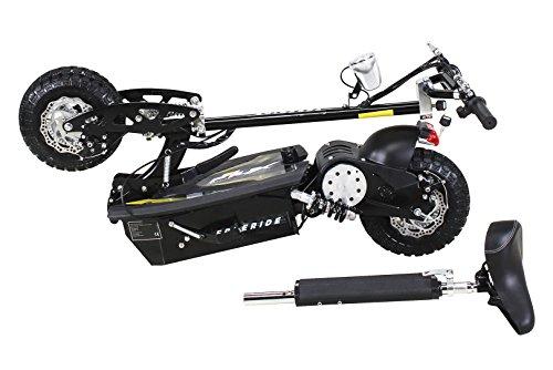 E-Scooter Roller Original E-Flux Freeride 1000 Watt 48 V mit Licht und Freilauf Elektroroller E-Roller in vielen Farben (schwarz) - 3