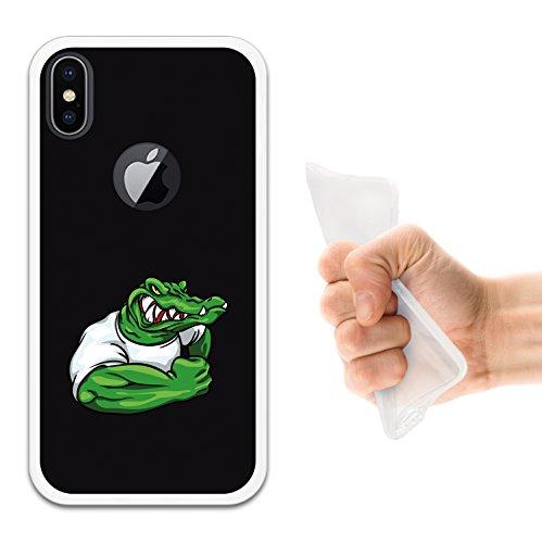 iPhone X Hülle, WoowCase Handyhülle Silikon für [ iPhone X ] Zombie Handytasche Handy Cover Case Schutzhülle Flexible TPU - Schwarz Housse Gel iPhone X Transparent D0053