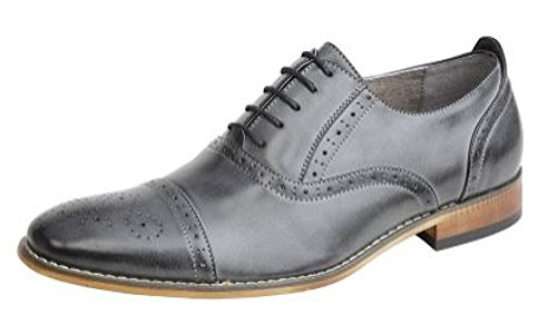 Goor ,  Herren Brogue Schnürhalbschuhe Grey Burnished