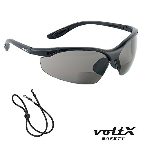 f9a4757f500 voltX  CONSTRUCTOR  BIFOCAL Reading Safety Glasses CE EN166F  certified Cycling Sports Glasses (SMOKE GRAY +1.5 Dioptre) includes safety  cord - Buy Online in ...