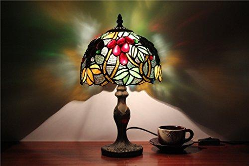 TOYM-perle di vetro giardino in stile europeo da 8 pollici lampada studio soggiorno camera da letto comodino vetro colorato
