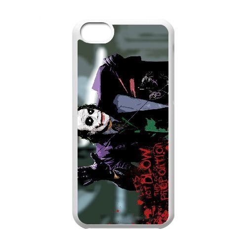 Personalized Durable Cases iPhone 5C White Phone Case Aknwf Joker Heath Ledger Protection Cover