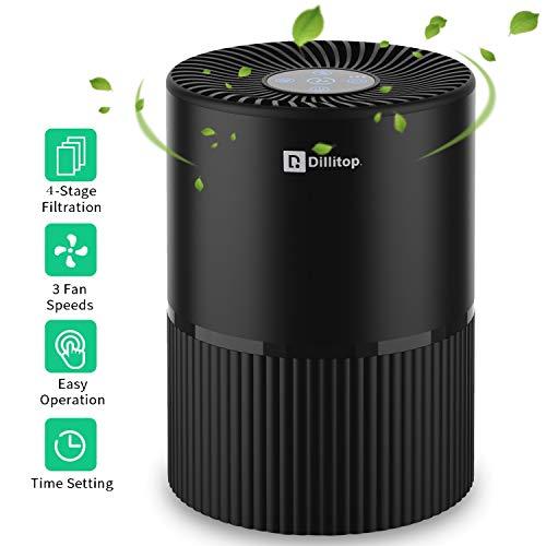 Luftreiniger mit HEPA Filter, USB Negatives Ion Air Purifier mit Nachtlicht und Timer für 99,97% Filterleistung, Entfernt Pollen, Rauch, Gerüche usw, Ideal für Allergiker, Asthma, Raucher