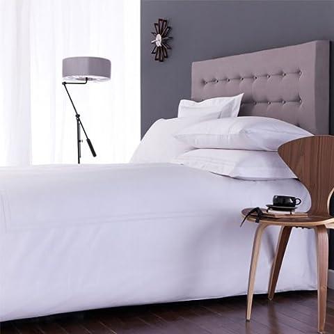 Charlotte Thomas Richmond 300 Thread Count 100% Cotton Percale Duvet Cover Set, White, Single