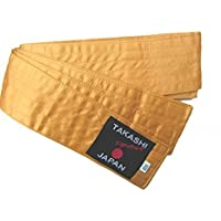 'GOLD' Obi Belt Iaido- KENDO, AIKIDO Gold Belt Takashi Japan Signature Range - 400cm x 8cm Easy Comfortable Tie by Nws