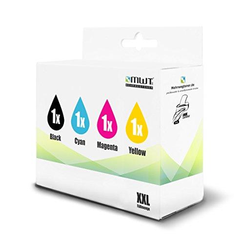Preisvergleich Produktbild 4x MWT Tintenpatronen für Lexmark OfficeEdge Pro 4000 5500 wie 210XL 210 XL Set