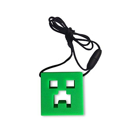 chewelry Chewy Halskette beißanhänger Autismus Schmuck Zahnen Therapie Spielzeug für ADHD Beißen & besonderen Bedürfnissen Kinder/Erwachsene mit zu Beißen Kauen/zappeln (Creeper Slim)