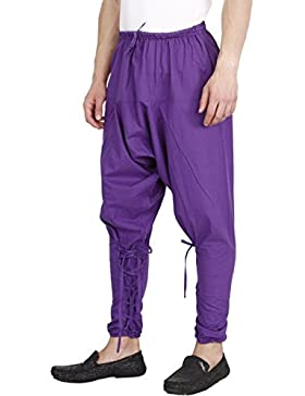 THE HAREM STUDIO Hombre Mujer Pantalones harem unisex bombachos ligeros, hippies, de algodón, casuales, boho,...