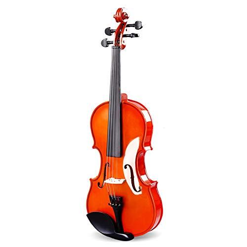 Miiliedy violino violino professionale in legno massiccio a 4/4 adatto per studenti adulti professionisti principianti incluso arco, colofonia, archi, astuccio (dimensione : 3/4)