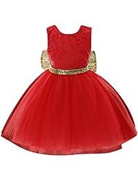 hibote Niñas Princesa Vestido Niños con Bowknot para el desfile Comunión fiesta de cumpleaños