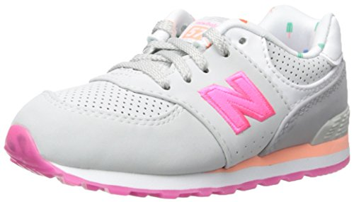 New Balance KL574 State Fair Running Shoe (Infant/Toddler) Grey/Pink