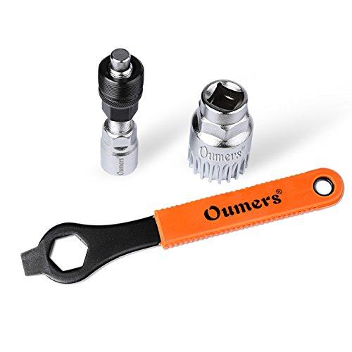 Oumers Fahrrad Crank Extractor/Arm-Entferner und Innenlager-Entferner mit 16mm Schraubenschlüssel. Professionelle Fahrrad Repair Tool Kit